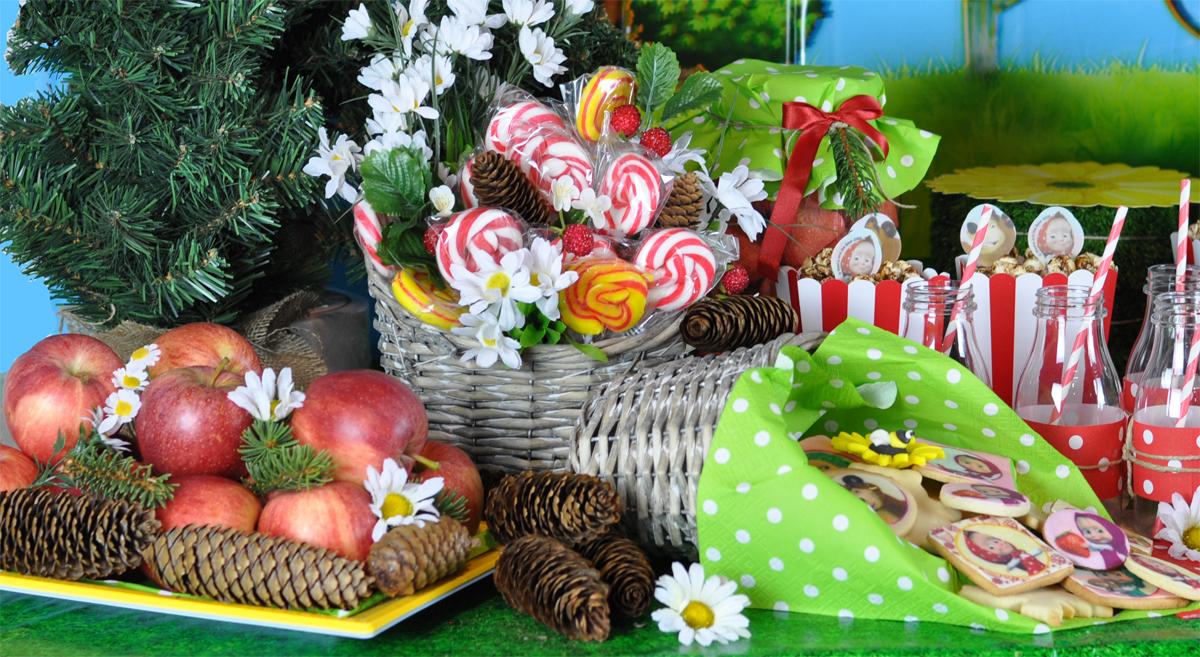 Decorazioni Buffet Fai Da Te : Festa masha e orso candy buffet wimipops