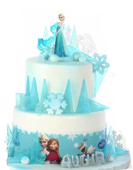 decorazione torta frozen