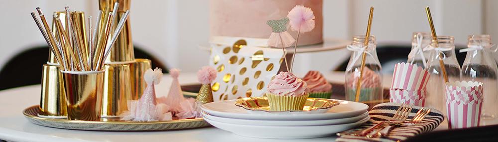 oro e rosa party,decorazioni
