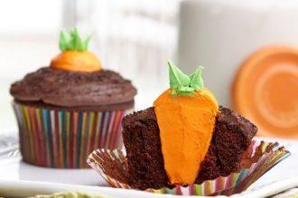 cupcakes ciocclato carota