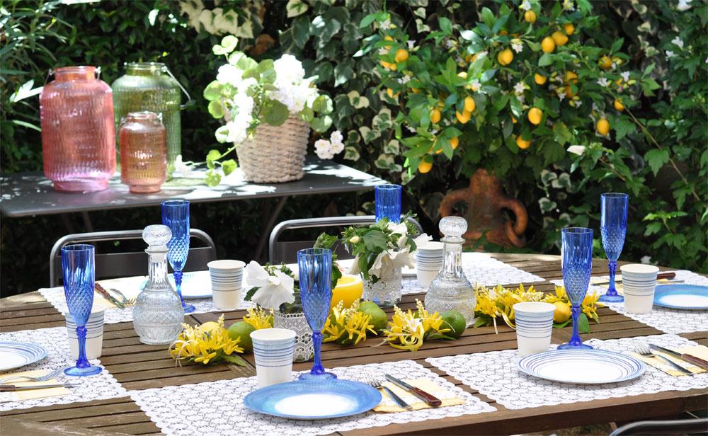 Pranzo in giardino limoni e zagare