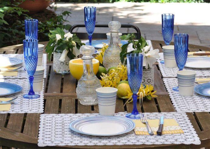 Pranzo in giardino tra forsizie e limoni - feste estate ...