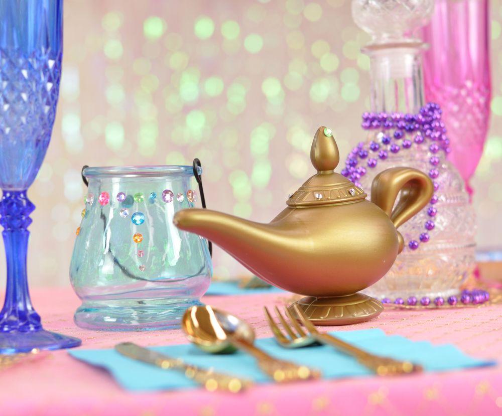 festa shimmer e shine lampada Aladino