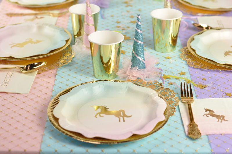 piatti unicorno oro