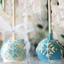 Snow Cake Pops festa Frozen