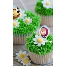 Cupcakes Masha e Orso Prato e Margherite