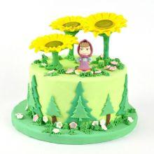 Torta Masha e Orso - Girasoli