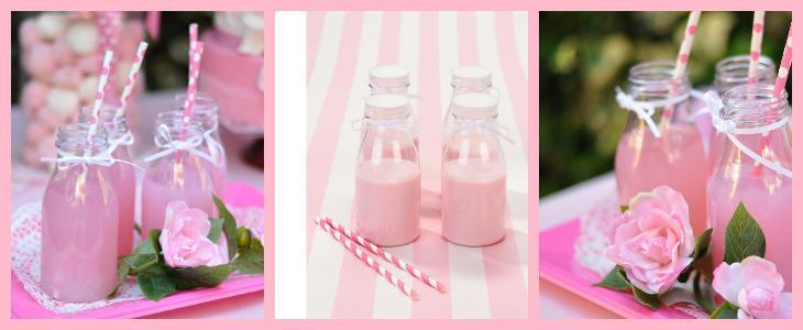 bottigliette per drink in rosa