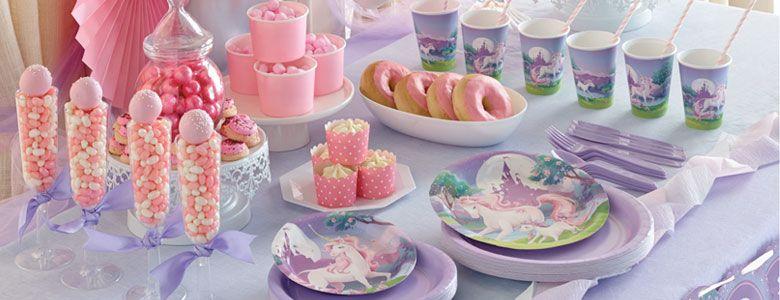 Festa compleanno a tema fantasy unicorno wimipops - Einhorn party deko ...