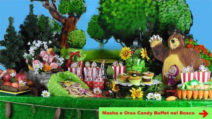 Festa Masha e Orso Candy Buffet
