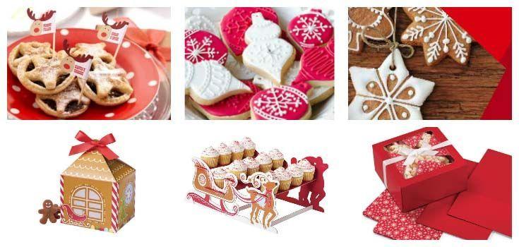 Decorazioni ed accessori per dolci e torte di natale - Decorazioni torte natalizie ...