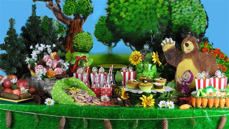Masha e Orso Candy Buffet
