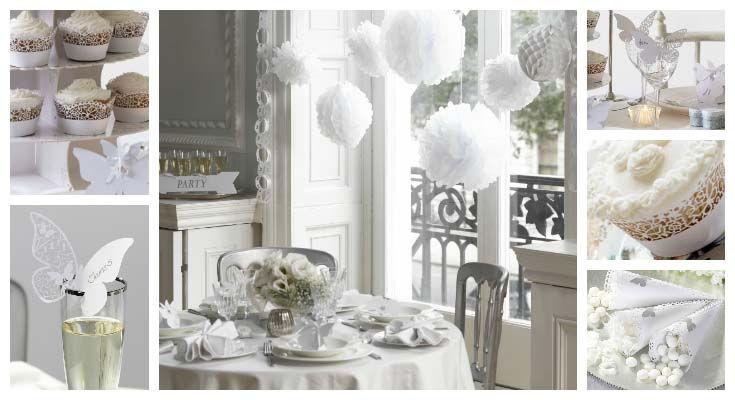 Matrimonio Tema Bianco : Party matrimonio bianco e argento wimipops