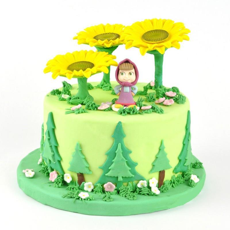 Torta Masha e Orso Girasoli