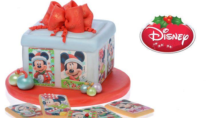 Kit Decorazione Per Torta Natale Topolino Minnie Wimipops