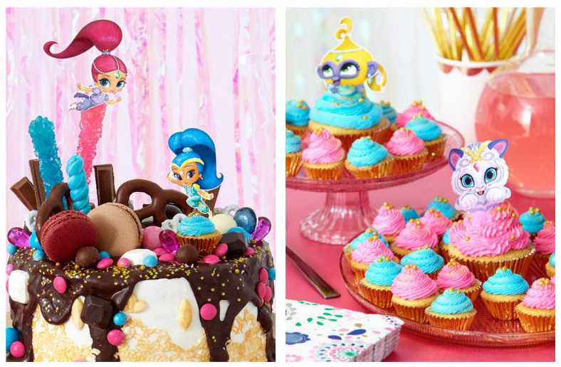 Accessori torta e dolci Shimmer e Shine