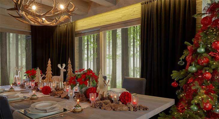 Decorazioni tavola di natale per una mise en place ricca di atmosfera wimipops - Decorazioni tavola natale ...