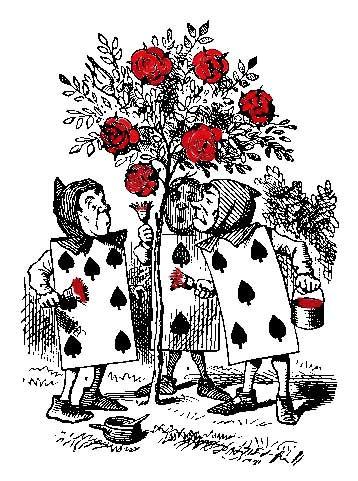 alice scenografia rose rosse