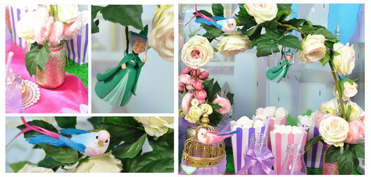 festa principesse arco di fiori