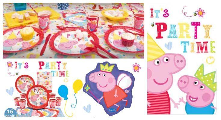 articoli per festa peppa pig