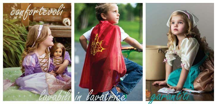 costumi per bambini, costumi di principessa, costumi per supereroi