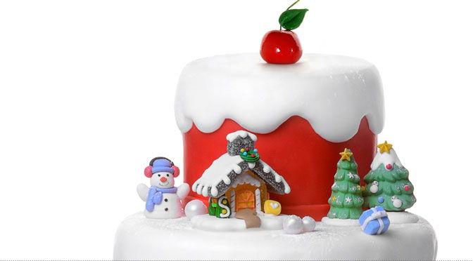 Decorazione torta di natale