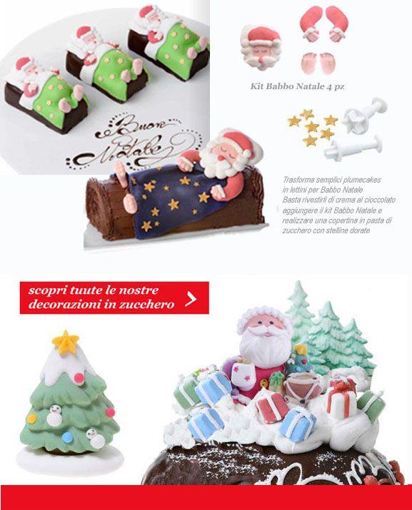 decorazione Babbo Natale Panettone