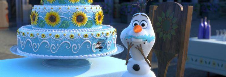 festa frozen fever torta