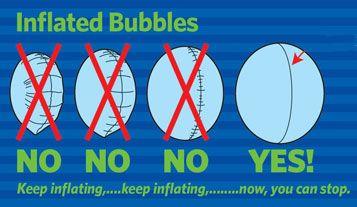 gonfiaggio palloncini bubbles