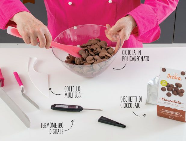 materiale realizzazione uova cioccolato