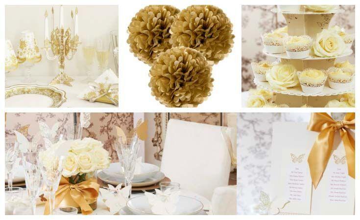 Matrimonio Oro E Azzurro : Party matrimonio oro e avorio wimipops
