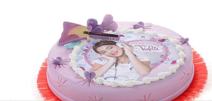 Torta Violetta con Cialda di Zucchero